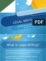 2016 Legal Writing 1- AUF