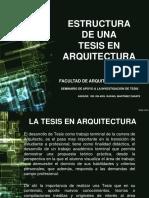 Estructura de una tesis en arquitectura