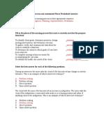 Assessment Worksheet Answers