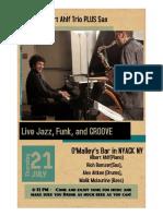 Ahlf Trio Plus Sax Poster