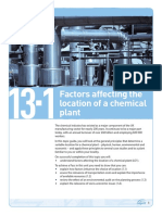 Topic Guide 13.1 Factors Affecting the Location of a Chemical Plant