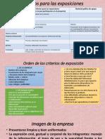 Criterios Para Las Exposiciones