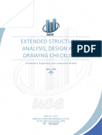 Extended Structural Analysis Design and Drawing Checklists