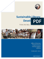 Peace Corps Sustainable Library Development Training Package Focus In Train Up