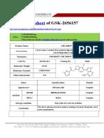 Datasheet of GSK2656157|CAS 1337532-29-2|sun-shinechem.com
