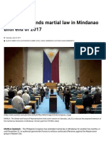 Congress Extends Martial Law in Mindanao Until End of 2017 _ SunStar