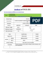 Datasheet of TGX-221|CAS 663619-89-4|sun-shinechem.com