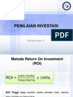 6. Penilaian Investasi