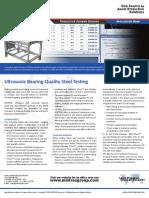 UT Bearing-Quality Steel Testing