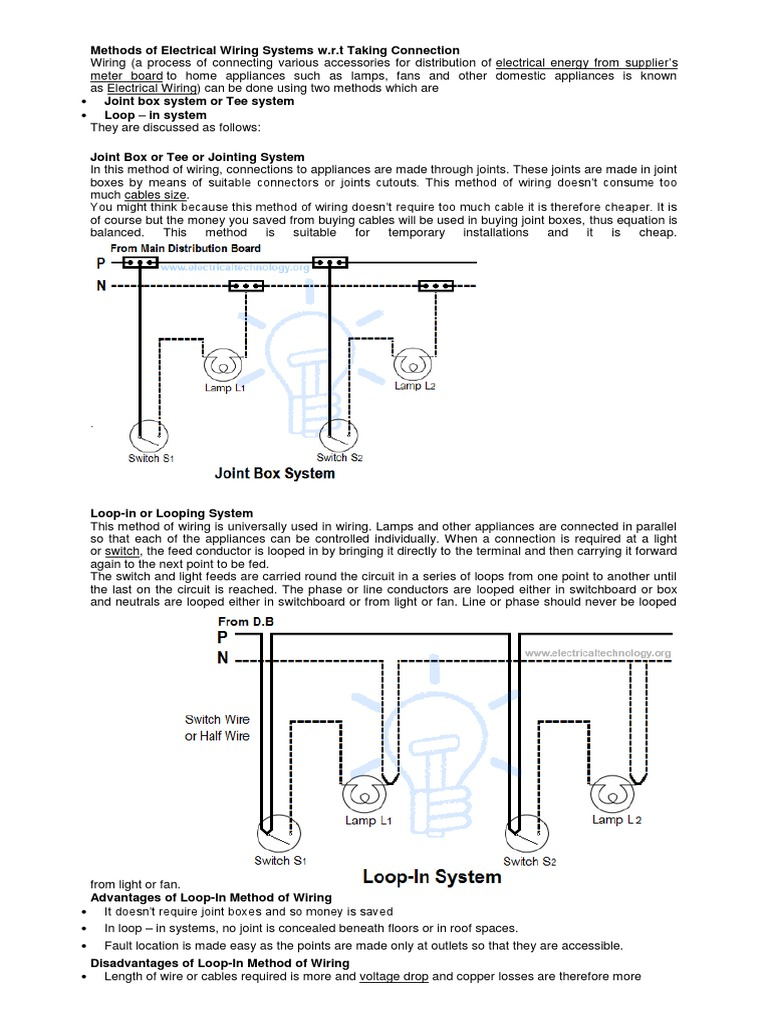 Amazing Electrical Switch Loop Composition - Electrical System Block ...