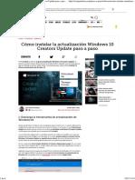 Cómo Instalar La Actualización Windows 10 Creators Update Paso a Paso - ComputerHoy