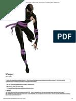 Whisper - First Comics - Steven Grant - Alexis Devin - Character Profile - Writeups