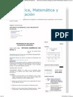 Métodos Numéricos Con Microsoft Excel(r) _ Estadística, Matemática y Computación