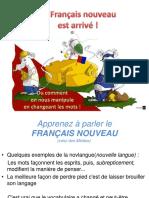 FRANCAIS NOUVEAU = NOVLANGUE