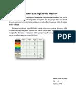 Kode Warna Dan Angka Pada Resistor