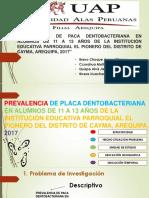 Prevalencia de Paca Dentobacteriana en Alumnos De