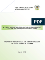 A Study on Cost Control in Public Procurement