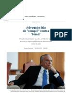 Advogado de Temer Diz Que Há Complô Contra Presidente _ República _ Gazeta Do Povo
