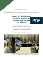 Temer Enterra Reforma Da Previdência Para Se Salvar _ República _ Gazeta Do Povo