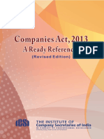 Companies Act 2013 Ready Referencer 13 Aug 2014