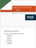 Semantic Relation and Semantic Field