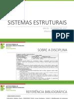 1 - SESE3 - Introdução e Tipos de Elementos Estruturais