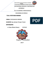 informe topografia minera