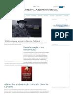 10 Livros Para Vencer a Guerra Cultural - Conservadorismo Do Brasil