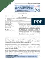 SCREENING OF PHYTOCHEMICALS & BIOACTIVE ANTIBACTERIAL ACTIVITY IN SPIROGYRA SP.