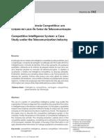 Sistema de Inteligência Competitiva um Estudo de Caso no Setor de Telecomunicação