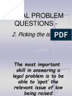 Legal Problem Questions - Workshop Two