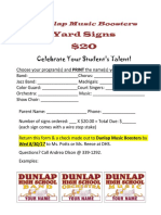 dunlap music boosters yard sign order form 2017