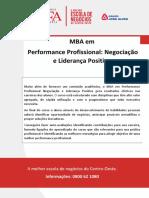 Mba Em Performance Profissional