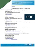 Servicios Publicos de Genetica Forense en Argentina