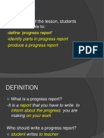 progressreport writing