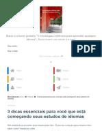 3 dicas essenciais para você que está começando seus estudos de idiomas - Missão Poliglota.pdf