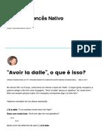 """""""Avoir La Dalle"""", o Que é Isso_ – FrancêsNativo"""