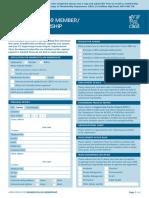 Member Fellow Application Form