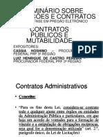 Contratos Publicos e Mutabilidade
