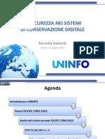 La Sicurezza Nei Sistemi Di Conservazione Digitale