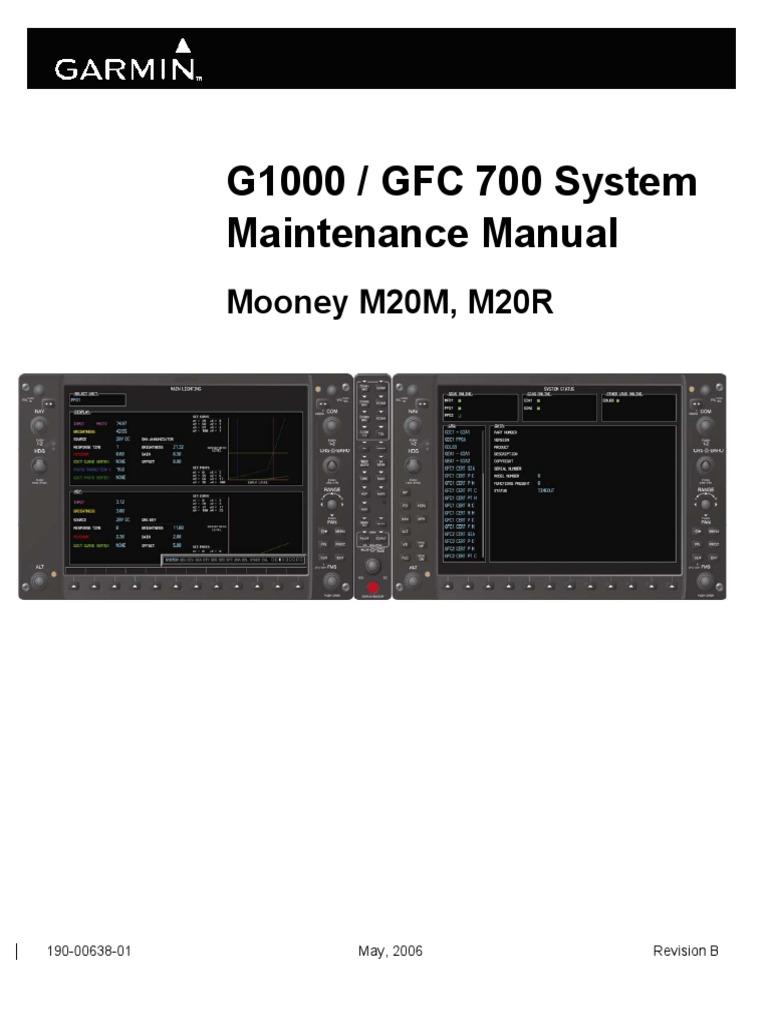 G1000-Mooney G1000 GFC700SystemMaintenanceManual   Aeronautics ...