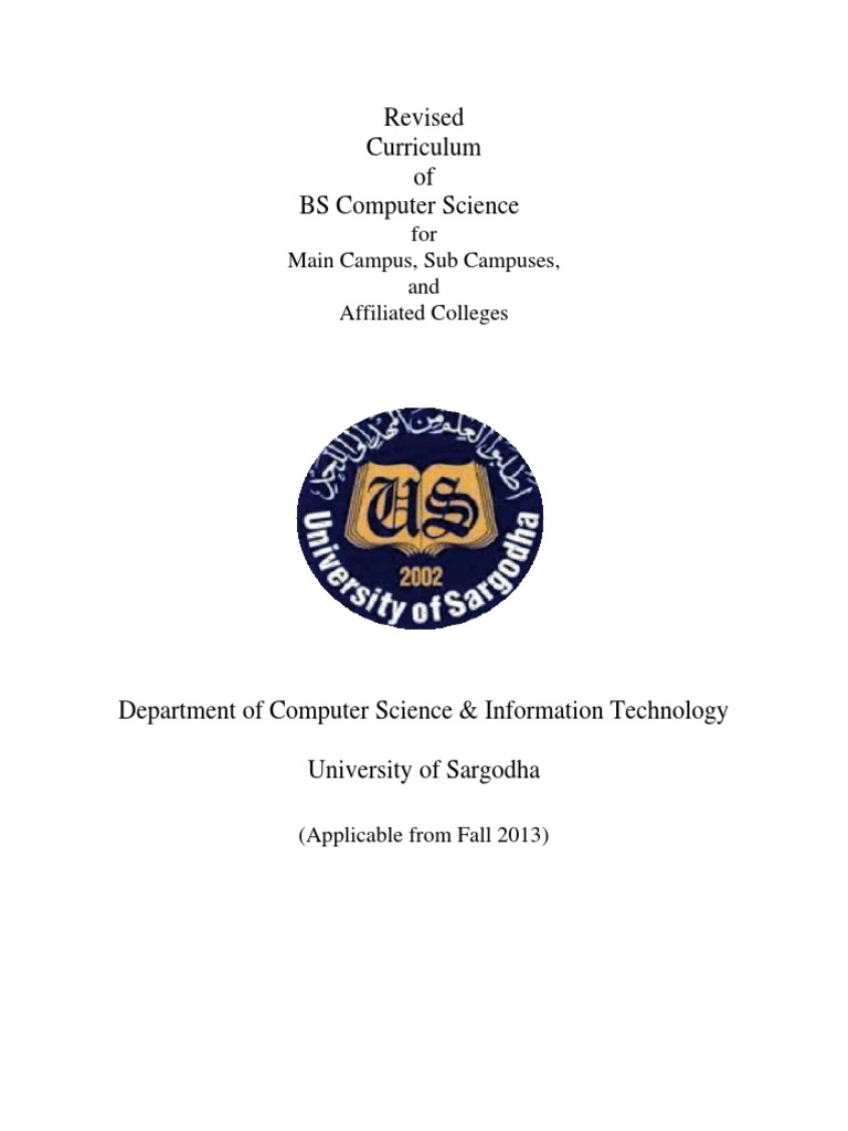 BSCS-final2 | Computer Science | Curriculum