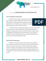 Guia Para Cuerpo de Protocolos MOVENU 2017