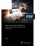 Mercedes Benz WebParts Manual