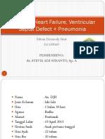 Congestif Heart Failure, Ventriculer Septal Defect +