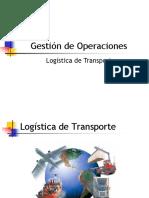 Gestion de Operaciones Logistica de Transportes