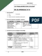 SESIÓN DE APRENDIZAJE DE LA UNIDAD  5° MAYO - 2015.docx