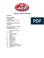 Footy 9s - Official Playing Rules