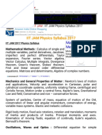 IIT JAM Physics Syllabus 2017 IIT JAM 2017 Syllabus IIT JAM Entrance Exam Syllabus 2017