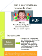 Evaluación e Intervención en Síndrome de Down